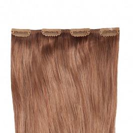 Clip-in Extensions für Haarverlängerung mit 4 Clips, 50cm lang