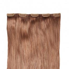 Clip in Extensions für Haarverlängerung mit 5 Clips, 40cm lang