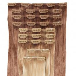 DELUXE - Clip in Extensions Set aus Echthaar in 60 cm Haarlänge