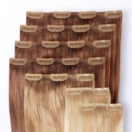 Premium Clip-in Extensions Set zur Haarverlängerung aus Echthaar in 35cm