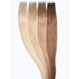 10 Tape Extensions aus Tempelhaar zur Haarverlängerung in 60 cm