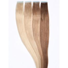 30 Tape Extensions aus Tempelhaar zur Haarverlängerung in 60 cm
