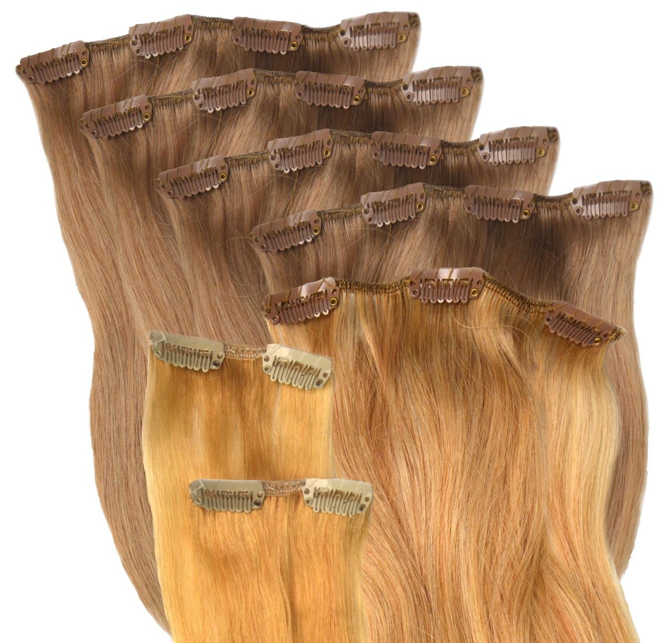 Haarverlangerung clips echthaar gunstig kaufen
