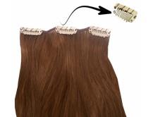 Clip-in-Extensions für Haarverlängerung mit 3 Clips, 60cm lang