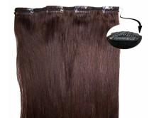Clip in Extensions für Haarverlängerung mit 4 Clips, 40cm lang