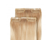 Clip in Extensions 2 Stk. mit je 2 Clips, 50cm Echthaar