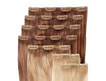 Clip-in Extensions Set für Haarverlängerung 4 x 4er, 1 x 3er, 2 x 2er