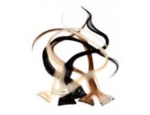 Clip-in-Extensions für Haarverlängerung mit 6 Clips, 40cm lang