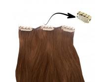 Clip-in-Extensions für Haarverlängerung mit 3 Clips, 50cm lang