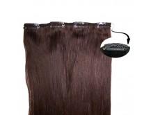 Clip-in-Extensions für Haarverlängerung mit 4 Clips, 50cm lang