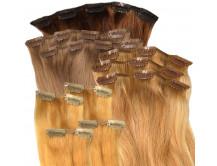 DELUXE - Clip in Extensions Set aus Echthaar in 50 cm Haarlänge
