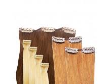 Clip-in-Extensions Set aus Echthaar in 60cm! Größe S für Haarverdichtung