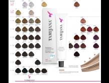 Starterset zum kennenlernen. 10 x Haarfarbe, 2 x Oxidant und ein Farbbuch mit Farbfeldern zu den Haarfarben von Tamijana®