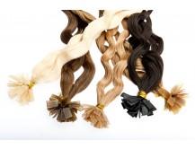 Extensions Haarverlängerung gelockt 40 - 50 cm Echthaar