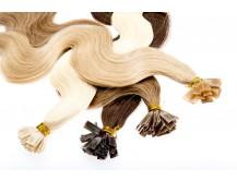 Echthaarsträhnen Haarverlängerung 60cm 1g gewellt