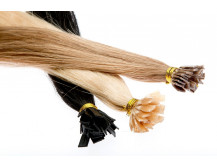 25 Echthaarsträhnen mit flachen Bondings in 40 cm und 1g Stärke Extensions