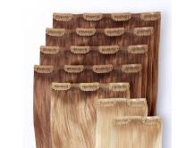 Premium Clip-in-Extensions-Set für Haarverlängerung aus Echthaar in 55cm!