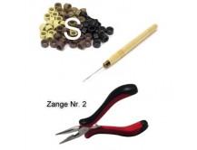 Microring-Set für Haarverlängerung