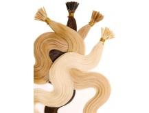 Haarverlängerung Echthaar 60cm gewellt Microring-Extensions