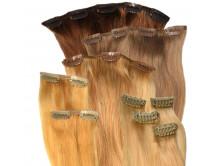 Clip-in-Extensions Set aus Echthaar in 40cm für Haarverdichtung Größe L