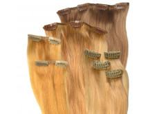Clip in Extensions Set aus Echthaar in 40cm für Haarverdichtung, Größe M