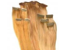 Clip in Extensions Set aus Echthaar in 40cm für Haarverdichtung, Größe S