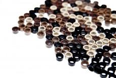 100 Microrings mit Silikon für die Haarverlängerung, Haarverdichtung aus Echthaar