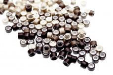 100 Microrings mit Gewinde für Haarverlängerung oder Haarverdichtung