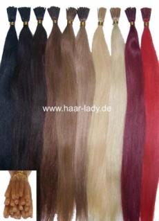 Haarverlängerung Echthaar 40cm 25 Stück Microrings