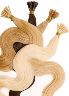 Haarverlängerung Echthaar gewellt 40cm für Microrings